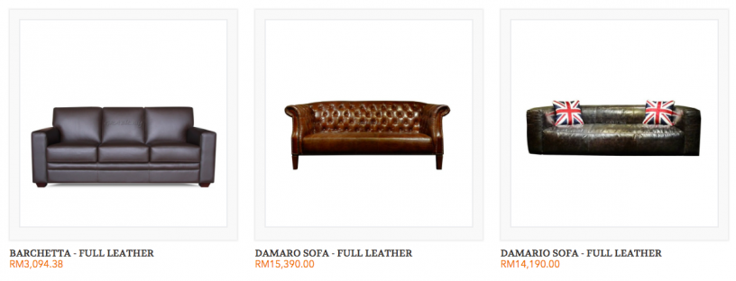 Leather Sofa Malaysia Grabit Posted By Furniture Online