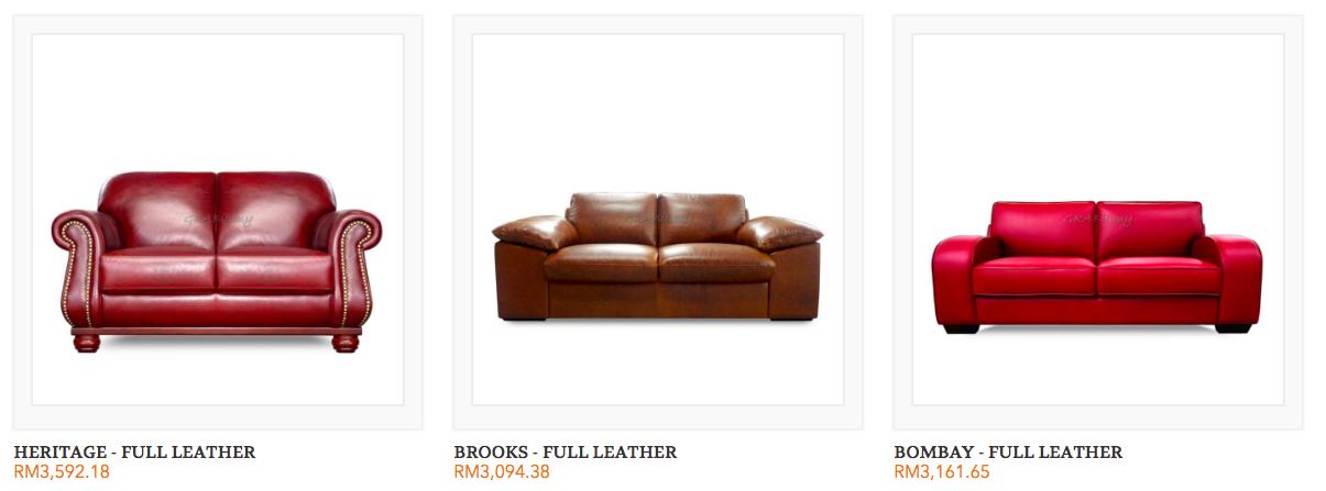 Leather Sofa Malaysia Grabit Furniture Online Malaysia